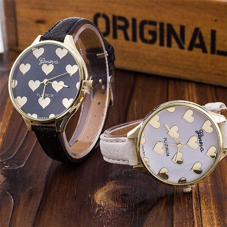 Love Heart Pattern Dial Female Watches Fashion Ladies Geneva Brand ...