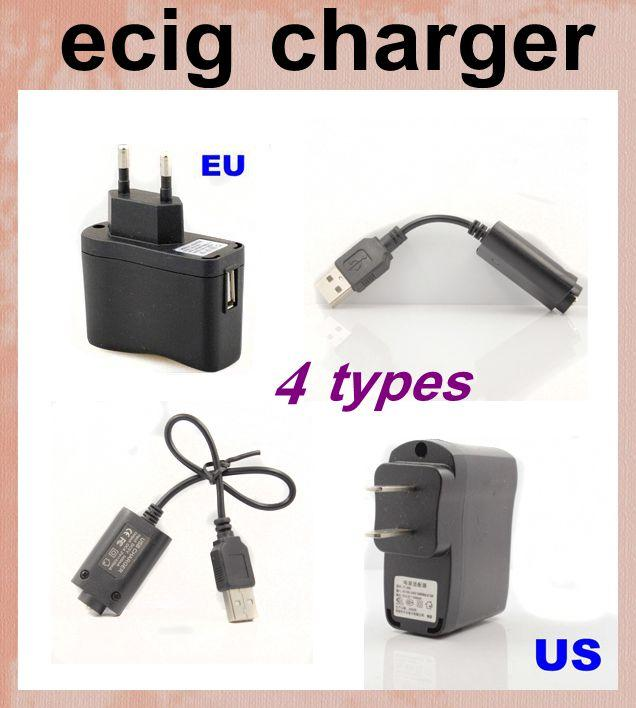 USB Cable Charger for Electronic Cigarette Vapor Cigarettes EGO E Cig Kit USB Cheap Price USB Charger Fit US EU Wall Charger power FJH02