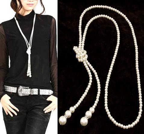 2014 Moda Długie Oświadczenie Naszyjniki Spersonalizowane Antyczne Retro Knot Pedant Naszyjnik Biżuteria Dla Kobiet S6059