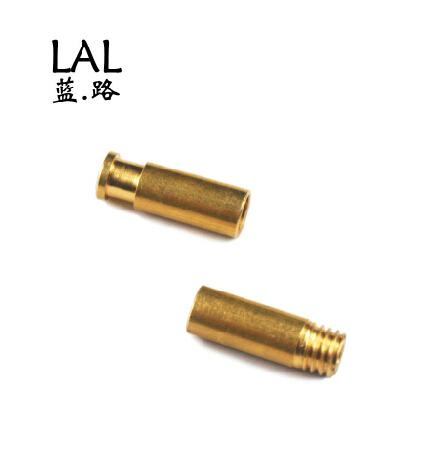 3D printer parts Reprap Ormerod 3D printer hot end Threaded/Notched brass union bowden start and end fitting kt/set copper