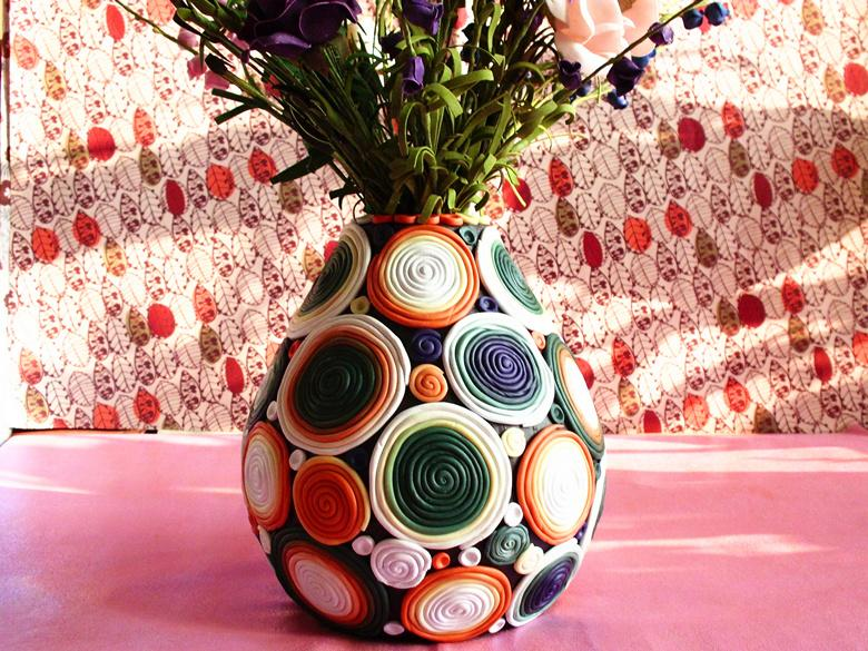 ... Hand Painted Pottery Furnishing Articles Creative Home Decorative Vase  Fake Flower Pot Birthday Gift ...