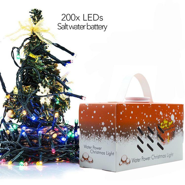 Férias Cordas Luz de água salgada Alimentado Cordas Luz Ao Ar Livre Fada Lâmpada À Prova D 'Água Ao Ar Livre Decoração Luzes de Natal navio por DHL