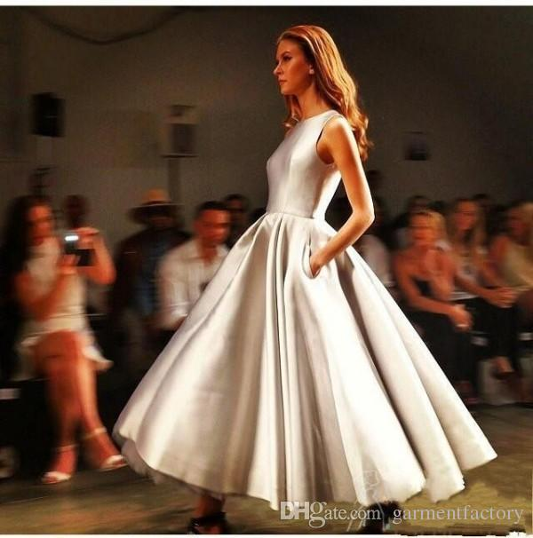 Tea Length Dresses with Pockets