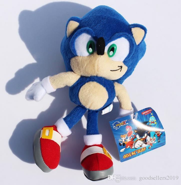 """Bichos de pelúcia 9"""" 23 centímetros azul Sonic the Hedgehog bichos de pelúcia brinquedos de pelúcia boneca para crianças Retail"""