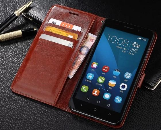 Optioneel voor Huawei Honor 4x Case Cover Kleurrijke Slanke Plastic Flip Stand Portemonnee Leren Case voor Huawei Honor 4x