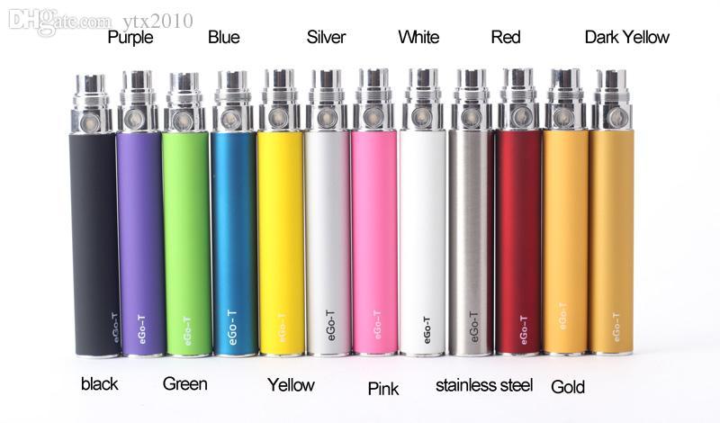 Batteria EGO per sigaretta elettronica E-cig Ego-T 510 Discussione CE4 atomizzatore CE5 clearomizer CE6 Vivi nova MT3 650mah 900mah 1100mah