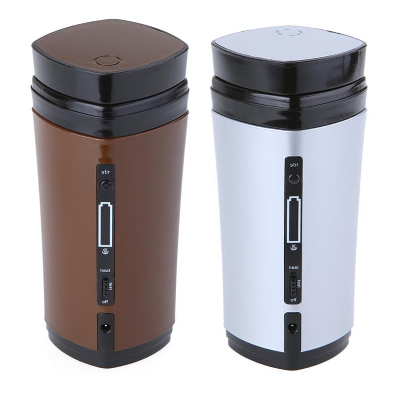 Portable USB Powered Coffee Cup Tea Mug 130mL kettle Warmer Gift Gadget with Built-in Rechargeable Li-battery