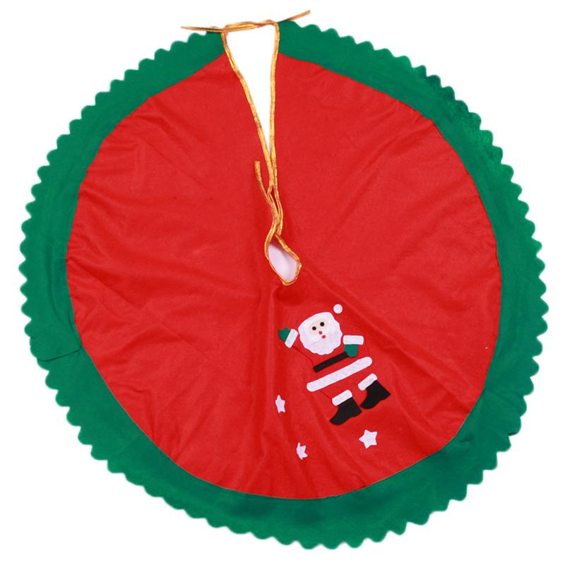 Venda quente 90 cm Papai Noel Saia Da Árvore de Natal Da Árvore De Natal Da Árvore de Natal suprimentos de natal decorações TY1642