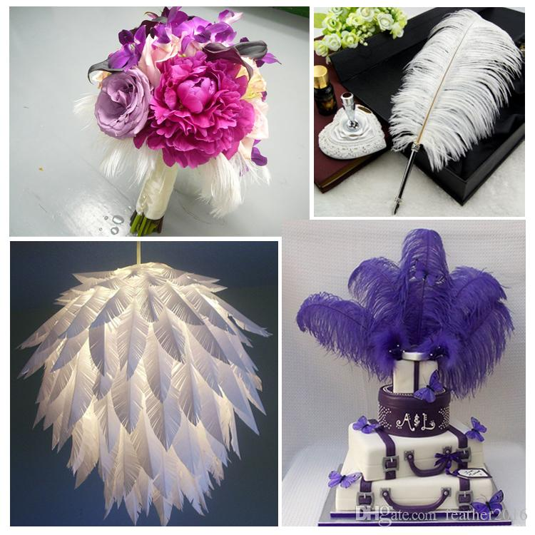 wholesale 100pcs/lot 12-14inch Ostrich Feather Plume White,Royal bule,Black,Turquoise,Pink,Yellow Purple Red Ivory Gold Orange