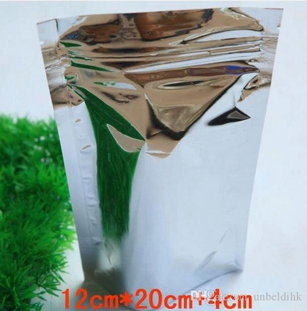 شحن مجاني 12 * 20 + 4 سنتيمتر جودة عالية انهض الألومنيوم احباط زيبر الأعلى التغليف التعبئة حقيبة للأغذية القهوة التخزين الأغلاق البريدي قفل حقيبة