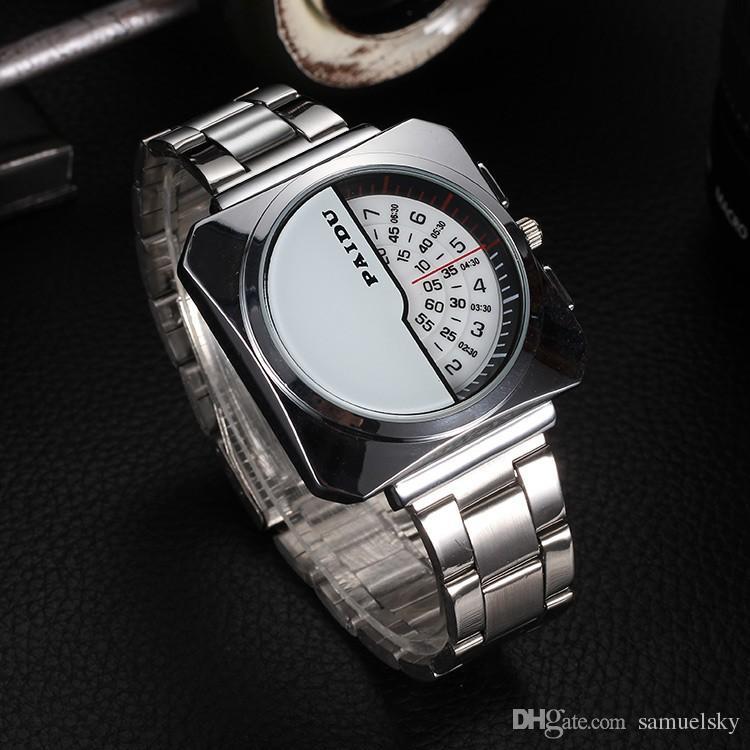 2019 nuovi uomini di fascino moda orologio da polso quadrato Mezza faccia Unico marchio di design maschile orologio al quarzo uomini di buona qualità orologi in argento