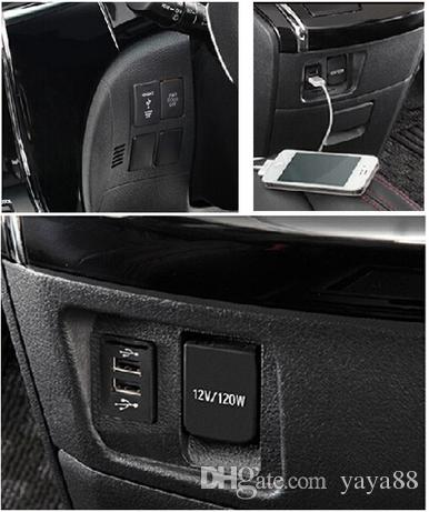 Hilux Dual USB Charger for Toyota OEM Switch Prado 120 LC100 FJ Cruiser