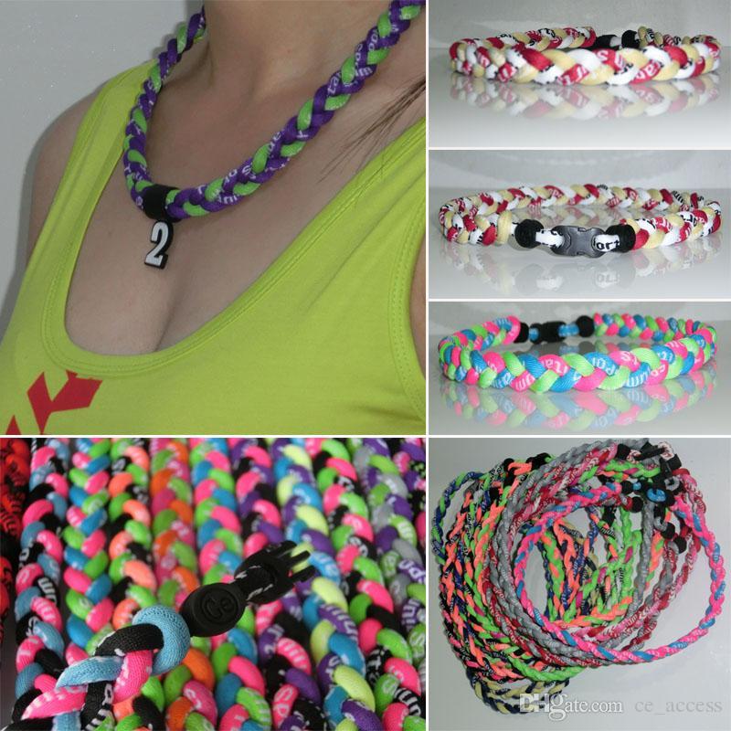 3 cordes tornade colliers 3 cordes collier de titane, sport x45 collier d'athlètes avec emballage