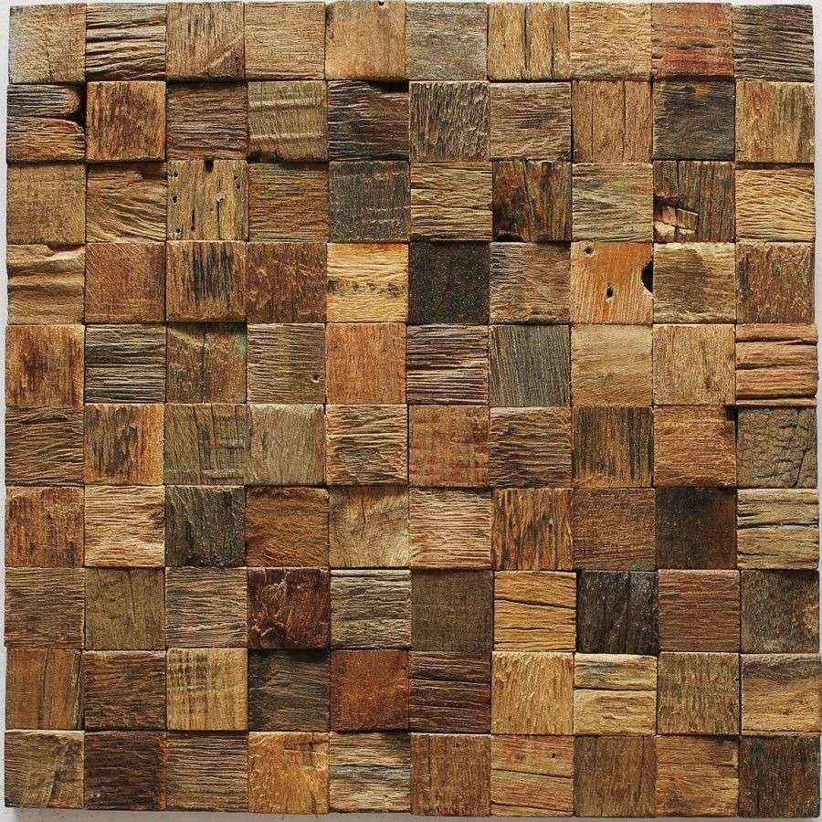 efflorescent wood paneling 3d tiles interior wall deco mesh