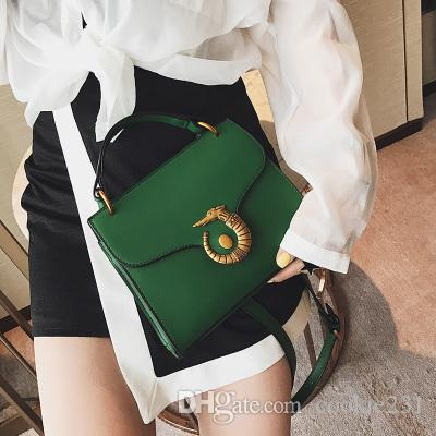 Brand new women leather bags Plain Shoulder bags with Alloy sea horse Small Phone Handbags Party Clutch Totes Cross body Bags