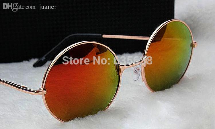 Toptan-Sıcak Satış John Lennon Stil Yuvarlak Güneş Vintage 60 s Retro Gözlük Sunnies Shades