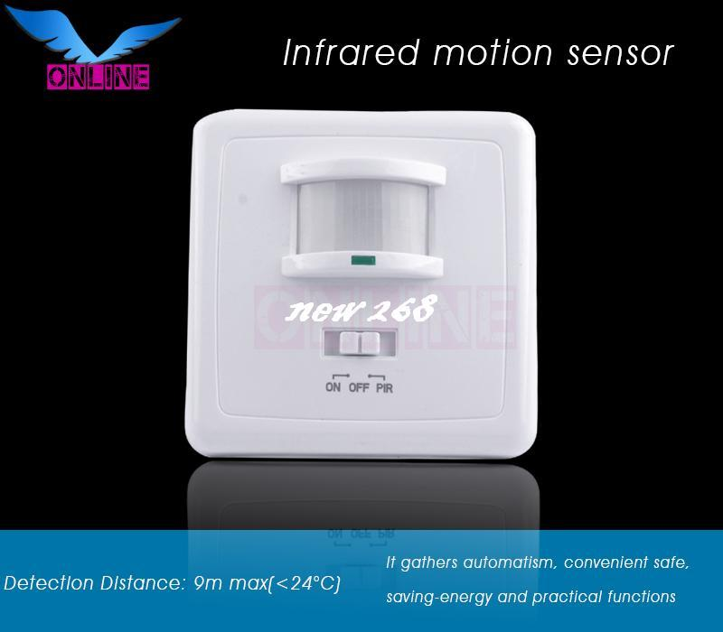 220 -240V/AC High quality Detection Distance 9m max PIR infrared motion sensor/detector switch (4pc SZOL031B)