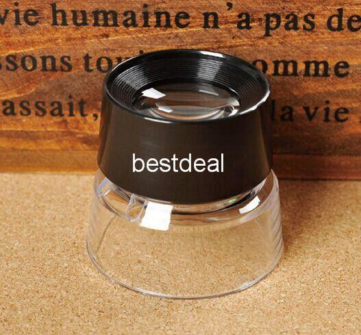 Desktop Microscope Magnifier portable jewelry plastic lens MG17136 10X 27mm ACRYLIC magnifier;reading glass;magnifying glass for jewelry