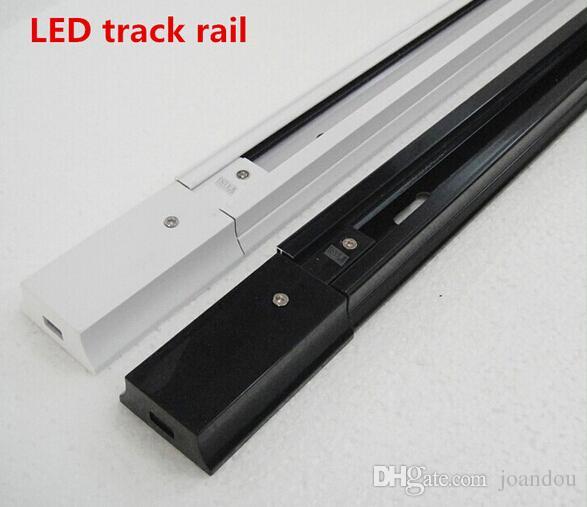 1M LED Track Rail, Track Light Rail Corns, Universal Rails, Track aluminiowy, Oprawy oświetleniowe, Czarny, Biały, Silver Shell