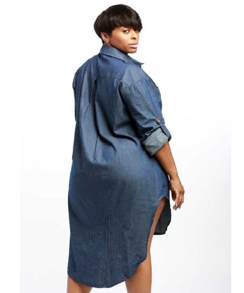 الجملة-الخريف 2016 أزياء المرأة عارضة صالح الدينيم جان اللباس زائد الحجم كم طويل البسيطة فساتين زائد szie vestidos