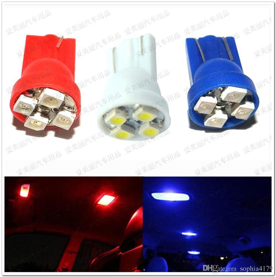 La voiture en gros a mené la lumière 500 PCS T10 1210 4 ampoules de LED lampe de lecture automatique de dôme de lecture