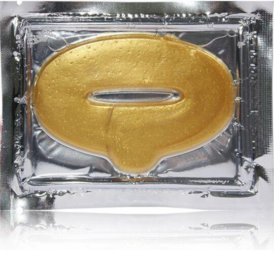شحن مجاني 5000 قطعة / الوحدة النساء الكولاجين البروتين كريستال ترطيب الشفاه السينمائي لشتاء الذهب كريستال الكولاجين قناع الشفاه