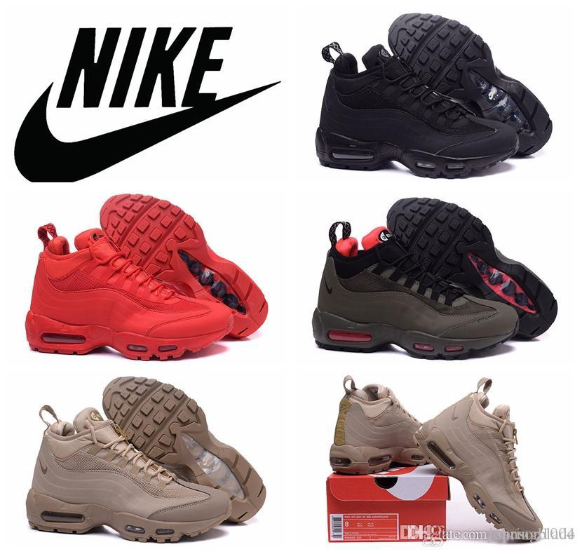 ex Estable Superioridad  NIKE Air Max 95 Sneakerboot 20th Anniversary All Black/Red High Top Running  Shoes Beige Brown Airmax 95 Sports Shoes Maxes 95 Athletic Shoes Running  Shoes Running From Springblade, $124.35| DHgate.Com