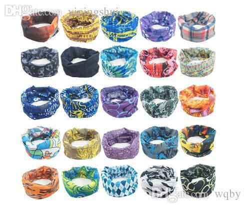 Venta al por mayor- (40 piezas / lote) 2015 moda unisex cabeza-desgaste mágico sin costuras multifuncional bufanda bandana deportes exterior capucha color (1 a 50)