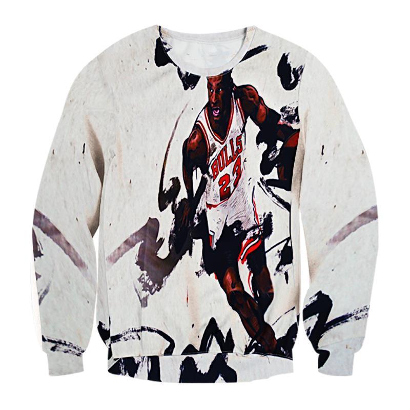 FG 1509 Raisevern 2015 novo harajuku 3D hoodies camisolas imprimir touros 23 moletom com capuz pullovers esporte ternos camisa de suor topos de roupas