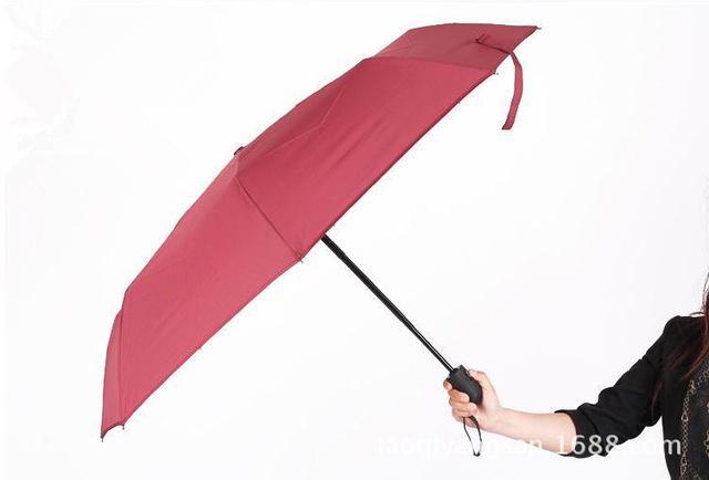 남자의 비즈니스 우산 자동 우산 꽃 고급 가죽 핸들 일반적인 그늘 우산 단단한 남자