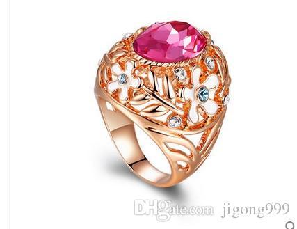 два цвета алмазов 925 серебряные леди кольцо всех размеров (yt-jd) fygr