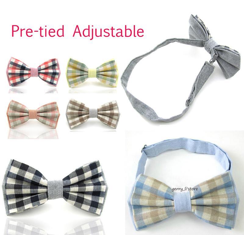 Bow Tie Tuesday Mens Plaid Pre-tied Adjustable Bowtie Tie