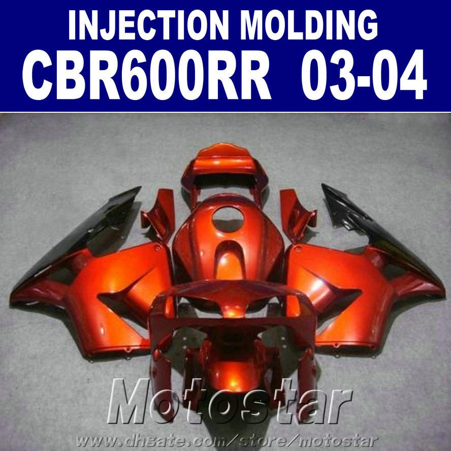 100% Injection motorcycle fairings set for HONDA CBR 600RR 2003 2004 cbr600rr 03 04 cheap motorcycle fairing AJDT
