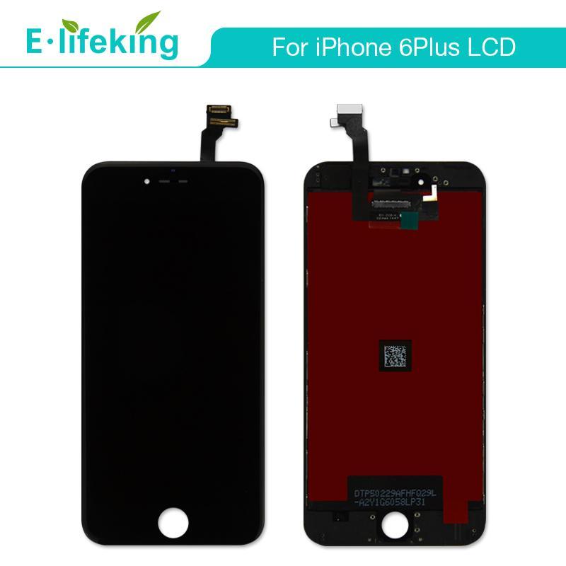 """IPhone 6 Için toptan LCD Artı LCD Ekran Dokunmatik Ekran Digitizer Meclisi Yedek 5.5 """"LCD Ekran Ile Ücretsiz DHL"""