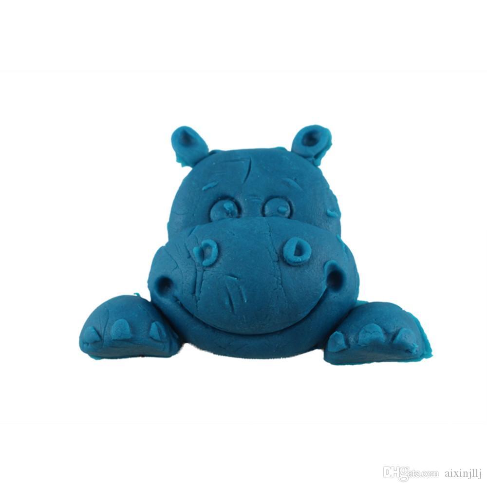 2018 Diy Silicone Cake Mold Cute Cartoon Hippo Shape Fondant ...