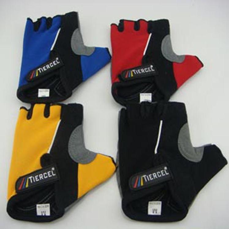 Nieuwe pro antislip fietsen fiets fietsen berg vingerloze handschoenen met gel halve vinger outdoor tiercel vier kleur bxy002