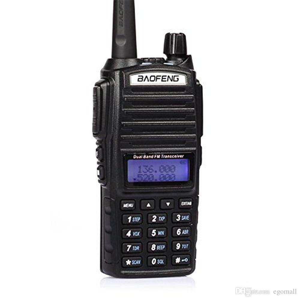 BAOFENG UV-82 VHF UHF Dual Band 136-174/400-520MHz 2-PTT 5W Two Way Radio Free Shipping by DHL