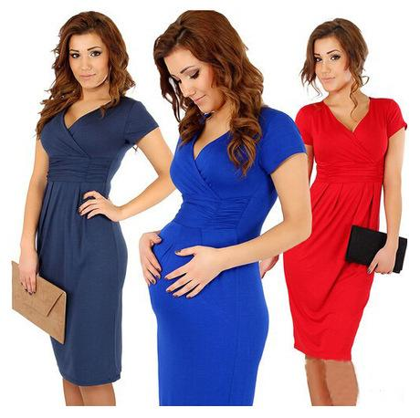 النساء العلامة التجارية سليم حزمة الورك مثير الخامس الرقبة تمتد اللباس الحوامل فساتين عادية
