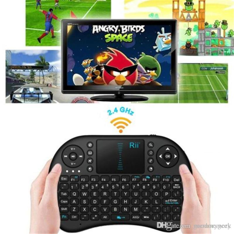 2.4G Touch Fly Air Mouse BlackWhite Portable Rii Mini i8 Teclado inalámbrico Combo Touchpad PC