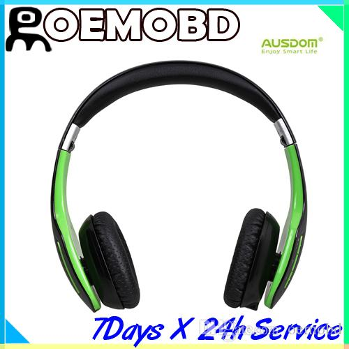 Ausdom New Bluetooth Headset M07s Bluetooth 4 0 Stereo Headphones Over Ear Wireless Earphone Carbon Fibre Stylish Design Earbuds For Running Headphone Adapter From Oemobd 28 15 Dhgate Com