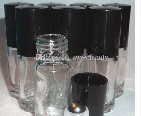 Перезаправляемые толщиной 5 мл мини ролл на прозрачное стекло бутылки эфирное масло сталь металл ролик мяч духи