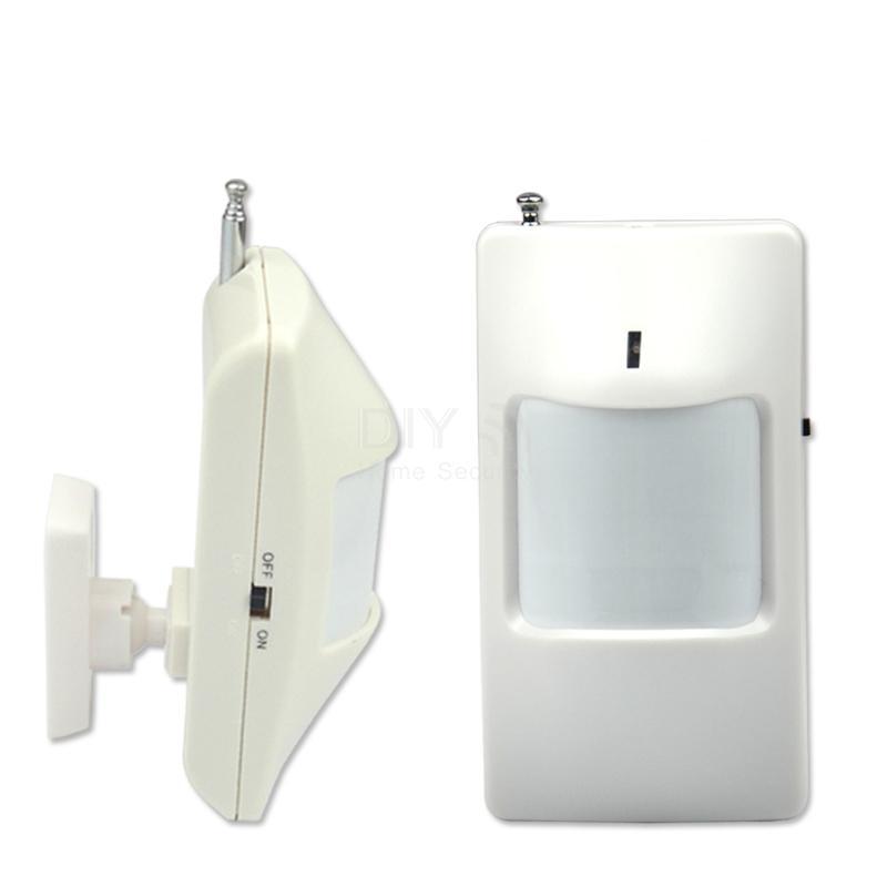 Free shipping Wireless PIR Motion Sensor for GSM alarm system detector, 100pcs/lot