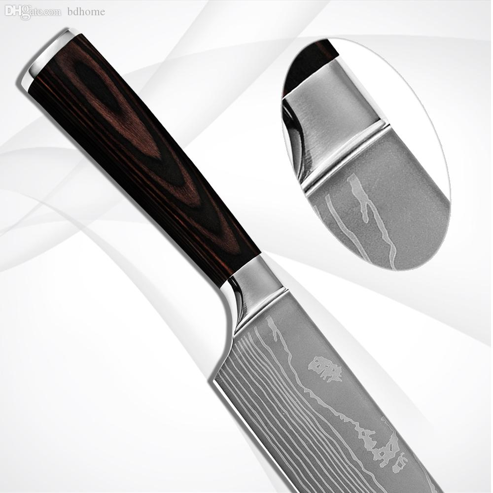 product name product name product name find this pin and more on wholesale handmade kitchen knives japanese cooku0027s knife 7 inch damascus pattern flowing sand wave with color wood handle kitchenware dropship