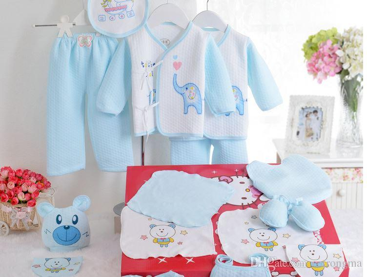 The Newborn Baby Born Gift Cotton Baby Clothes Set Box Set Full Moon