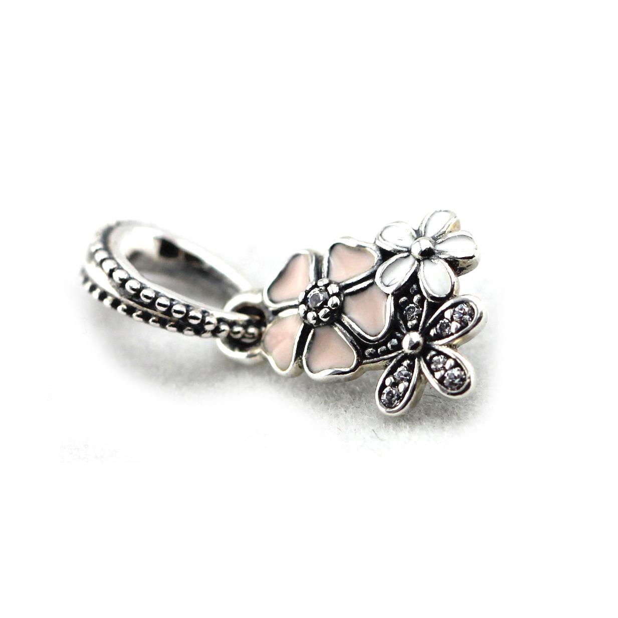 2016 lente nieuwste originele authentieke 925 sterling zilveren kralen poëtische bloemen hanger bedel diy past voor pandora armbanden groothandel 1pc / lot