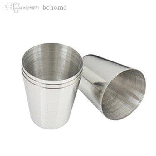 Atacado-NFLC 1 oz 35ml de vinho de aço inoxidável Beber Shot Barware Cup