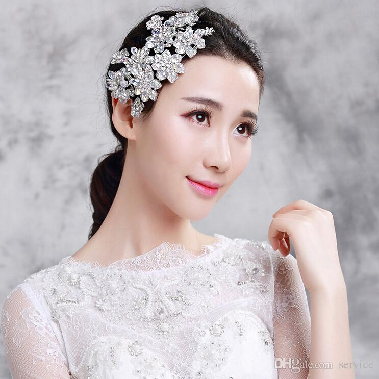 gorgeous crystal wedding bridal fascinators wedding hair jewelry bridal headpiece hair accessories 2015 autumn wedding style hot sale