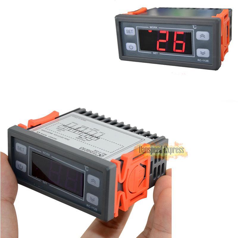 220V/110V/12V/24V 12V Digital Temperature Controller Temp Thermostat Probe LED with Sensor Wire 2m