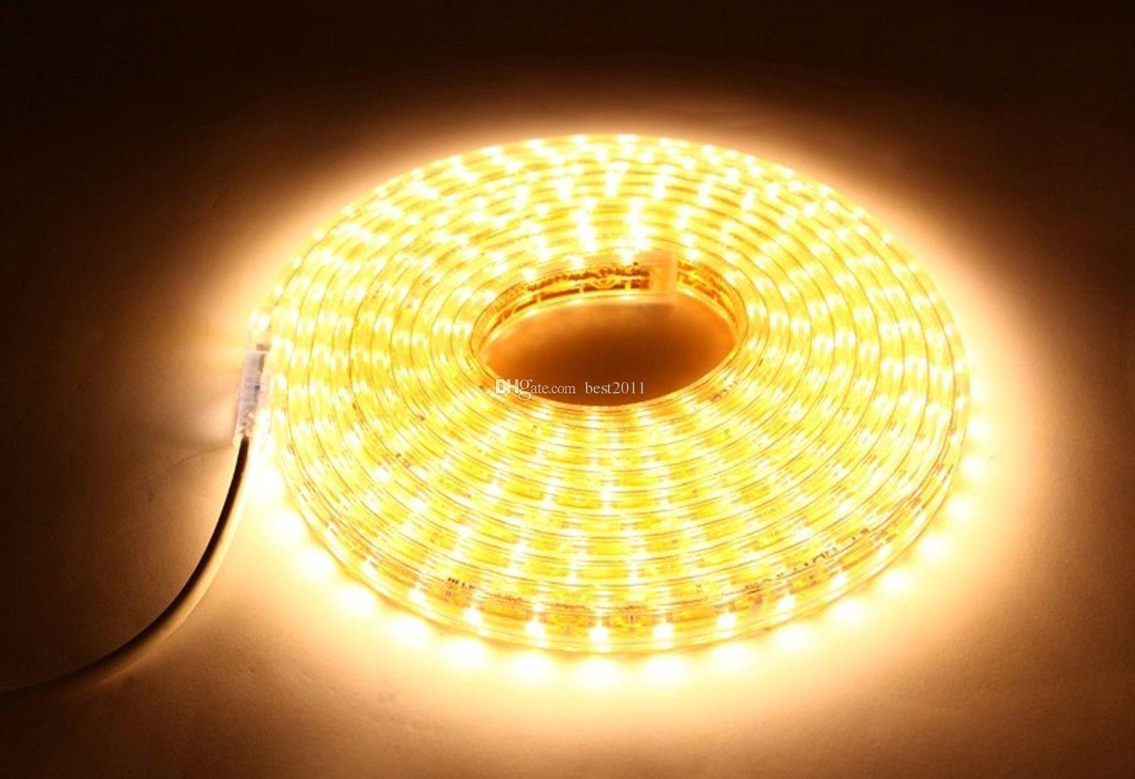 Warm white led rope warm white led rope lights clear waterproof high voltage ac 220v smd 3014 120leds m led strip light waterproof aloadofball Gallery