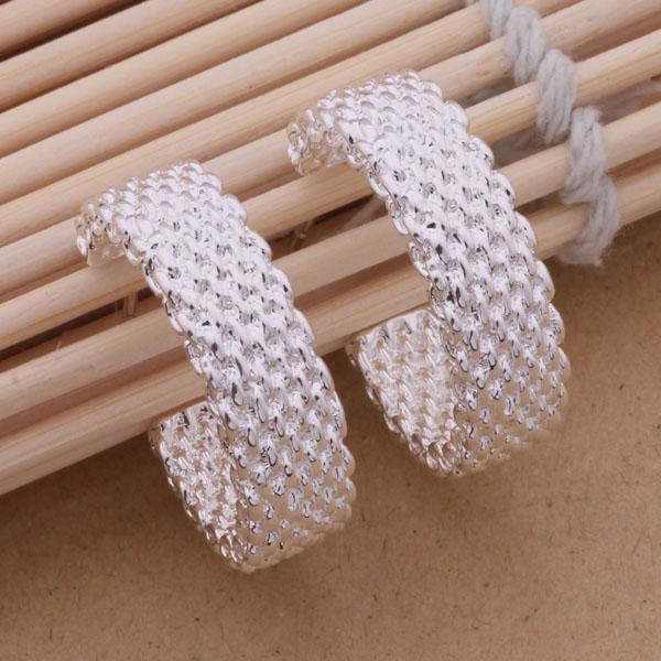 Мода (производитель ювелирных изделий) 40 шт. много Reticulocyte серьги стерлингового серебра 925 ювелирные изделия заводская цена мода блеск серьги